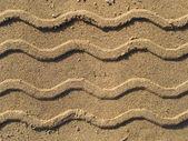 Шины трек на песчаном пляже. — Стоковое фото