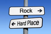 Between a rock and a hard place. — Stock Photo