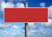 Wide blank red sign. — Stock Photo