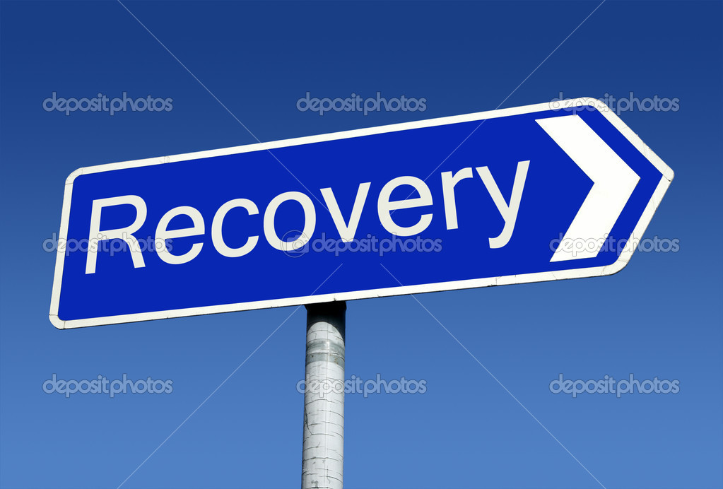 Signpost along the road to recovery. — Stock Photo #1886486