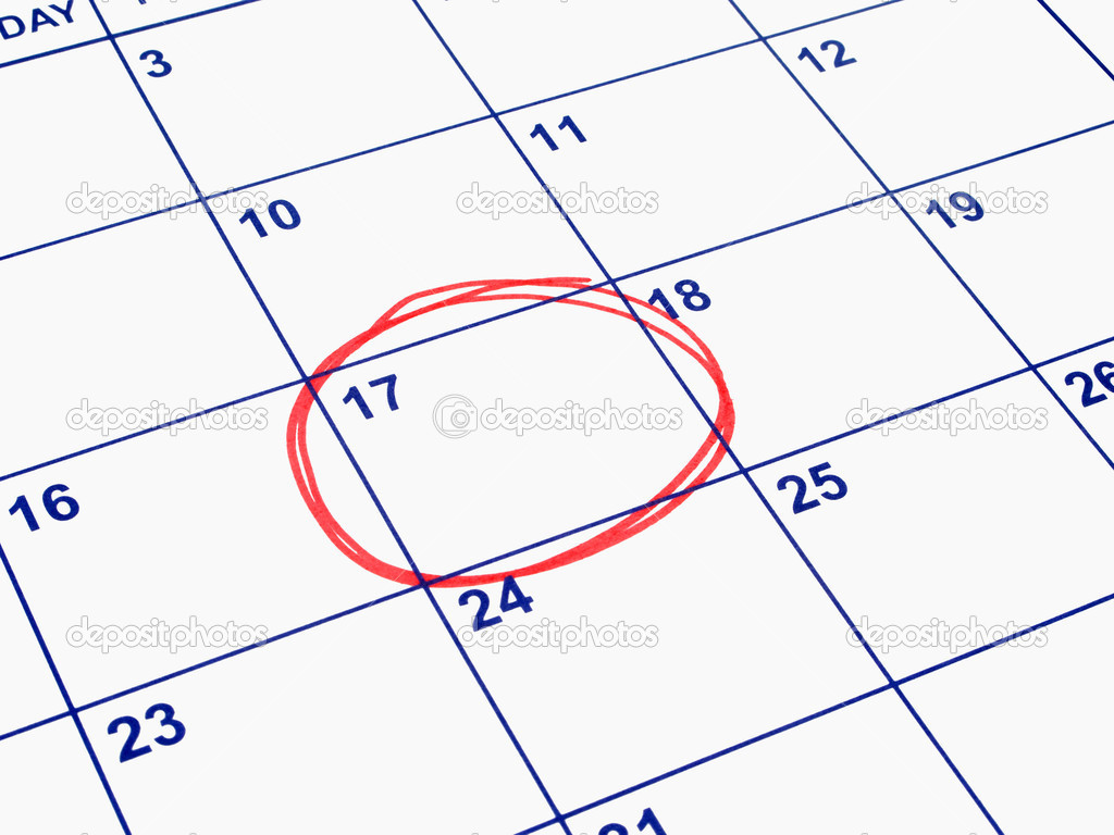 Calendar Date Circled a Date Circled on a Calendar