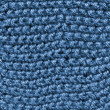 Blue knitted wool texture. — Stock Photo