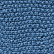 Stock Photo: Blue knitted wool texture.