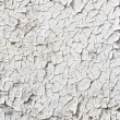 Stock Photo: Close up of old cracked white paint.