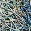 Royalty-Free Stock Photo: Close up of lots of fishing boat ropes.