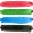 Red green blue black watercolor paint. — Stock Photo #1933032