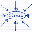 Royalty-Free Stock Photo: Stress, circled and written on paper.
