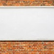 Large billboard with blank white paper. — Stock Photo