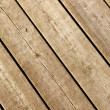 Stock Photo: Weathered wood decking planks.