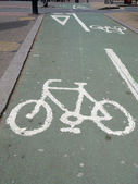Cycle lane sign in London UK. — Stock Photo