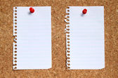 Two blank paper pages from a notebook. — Stock Photo