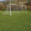 Stock Photo: Goal posts and net