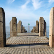 A jetty in Aberystwyth. — Stock Photo