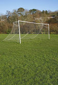 Goal posts and net — Stock Photo