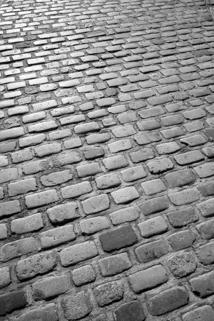 Old English cobblestone road