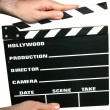 Holding clapboard — Stock Photo #2286910