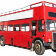 Stock Photo: London red double-decker bus