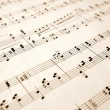 Notes on an old sheet of music — Stock Photo
