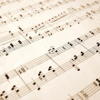 Notes on an old sheet of music — Stock Photo #2287539