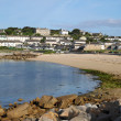 Porthcressa beach and Hugh Town. — Stock Photo