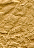 Crumpled brown paper bag — Stock Photo