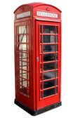 Classic red British telephone box. — Stock Photo
