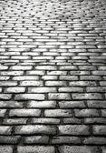 Wet cobblestones, St. Ives, Cornwall UK. — Stock Photo