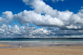 Clouds over the sea in St. Ives. — Stock Photo