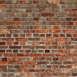 Dirty old red brick wall close up. — Stock Photo #2508960