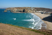 Above Portreath beach. — Stok fotoğraf