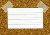 Blank index card. — Stock Photo