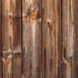 Dark brown wooden fence. — Foto de Stock