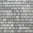 Old gray roof slates close up. - Stock Photo
