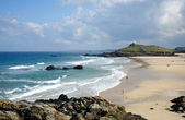 Porthmeor beach in St. Ives, — Stock Photo
