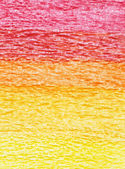 Red, orange and yellow colors crayon. — Stock Photo