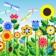 Royalty-Free Stock Imagen vectorial: Flowers background