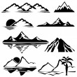 Stock Vector: Mountains