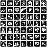 Icons medicine — Stock Vector