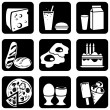 Icons food — Vector de stock #1277649