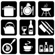 Icons food — Vector de stock #1277653