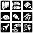 Stockvector : Icons food