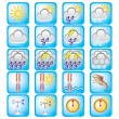Icons meteo - Stock Vector