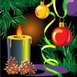New Year candle - Stock Vector
