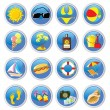 Royalty-Free Stock Vector Image: Beach icons