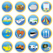 Travel icons — Stock Vector #1278894