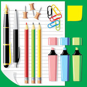 Stationery — Stockvector