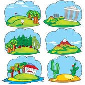Land for travel — Stock Vector