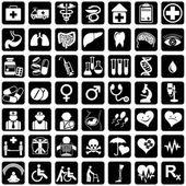Icons medicine — Vector de stock