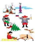 Russian Siberia — Stock Vector