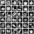 Icons food — Vector de stock #1332797